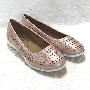 🆕 Cliffs Flat Shoes Casual Rose Gold PRIELLA 8W